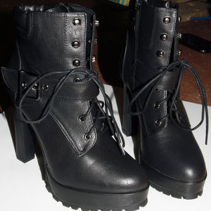 Just Fab Military style Stiletto booties